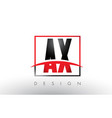 ax a x logo letters with red and black colors and vector image vector image