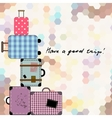 background with suitcases vector image