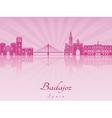 Badajoz skyline in purple radiant orchid vector image vector image