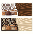 banners for chocolate candies vector image vector image