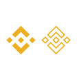 binance currency symbols vector image vector image