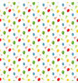 birthday seamless pattern - colorful balloons vector image