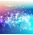 Blue bokeh abstract light background vector image vector image