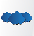 blue clouds vector image