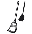 broom vector image vector image