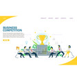 business competition website landing page vector image vector image