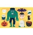 cartoon Halloween Elements vector image
