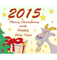 Christmas greeting cards symbol of New Year 2015 vector image vector image