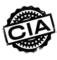 Cia rubber stamp vector image vector image
