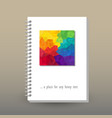 cover of diary or notebook rainbow triangular vector image vector image