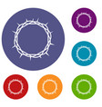 crown of thorns icons set vector image vector image