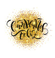 Cumpleanos Feliz Happy Birthday in Spanish vector image vector image