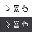 cursors set Arrow clock hand vector image vector image