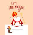 cute saint nicholas celebrate saint nicholas day vector image vector image