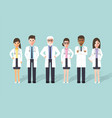 doctor medical and hospital staff characters vector image vector image