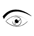 eye human watch look vision icon vector image
