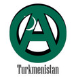 flag of turkmenistan of the world in the form of vector image vector image