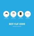 flat icon electronics set of destination resist vector image vector image