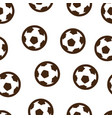 football ball pattern seamless isolated vector image vector image