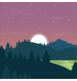 forest night vector image