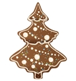 Gingerbread Christmas tree shape vector image vector image