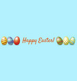 happy easter web banner vector image