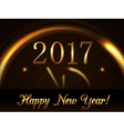 Happy New Year background gold vector image vector image