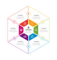 hexagon chart infographic template vector image