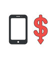 icon concept smartphone with dollar symbol vector image