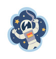 kid dreams sweet dream cloud with astronaut in vector image vector image