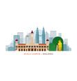 kuala lumpur malaysia landmarks skyline vector image vector image
