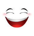 Laughing emoticon sign vector image vector image