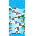level world map for mobile games - assets - for vector image vector image