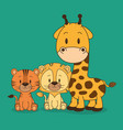 little and cute animals group vector image vector image