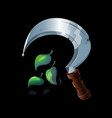 magic old druid sickle game icon vector image vector image