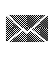 Mail button on white vector image