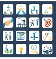 Mentoring flat icons set vector image vector image