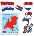 national colours of Netherlands vector image vector image