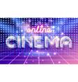 online cinema lettering vector image