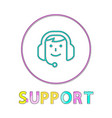 online support linear outline style icon vector image