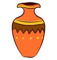 orange vase on white background vector image vector image