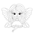 outlined an adorable fairy vector image vector image