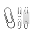 Paper clip isolated on white vector image