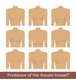 problems female breast set vector image vector image