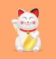 realistic 3d detailed lucky cat or maneki neko vector image vector image