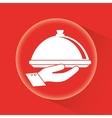 Restaurant dish design vector image