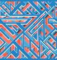 retro blue geometri seamless pattern vector image vector image