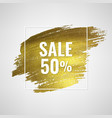 sale poster with golden blot vector image