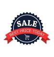 Sale round flat logo vector image