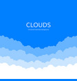 Seamless clouds skyline background paper clouds